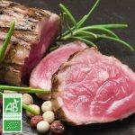 Faux-filet BIO à rôtir la Ferme Bichet, viande de boeuf charolais bio à la ferme traditionnelle, domaine et prairies naturelles, livraison fraîcheur