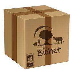 Colis spécial été BIO 10 kg de viande de boeuf charolais par la Ferme Bichet, viande de boeuf charolais bio à la ferme traditionnelle, domaine et prairies naturelles, livraison fraîcheur.