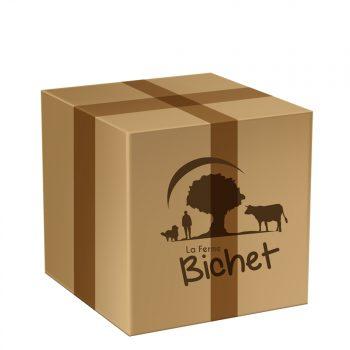 Colis spécial été 5 kg de viande de boeuf charolais par la Ferme Bichet, viande de boeuf charolais bio à la ferme traditionnelle, domaine et prairies naturelles, livraison fraîcheur.