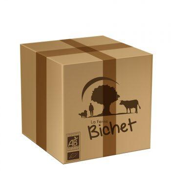 Colis spécial été BIO 5 kg de viande de boeuf charolais par la Ferme Bichet, viande de boeuf charolais bio à la ferme traditionnelle, domaine et prairies naturelles, livraison fraîcheur.