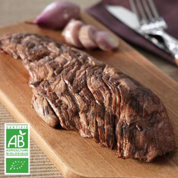 Bavettes BIO par 2 par la Ferme Bichet, viande de boeuf charolais bio à la ferme traditionnelle, domaine et prairies naturelles, livraison fraîcheur.