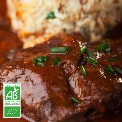 Joues de boeuf BIO par 2 par la Ferme Bichet, viande de boeuf charolais bio à la ferme traditionnelle, domaine et prairies naturelles, livraison fraîcheur.
