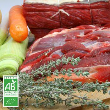 Pot-au-feu BIO par la Ferme Bichet, viande de boeuf charolais bio à la ferme traditionnelle, domaine et prairies naturelles, livraison fraîcheur.