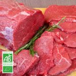 Rosbif BIO par la Ferme Bichet, viande de boeuf charolais bio à la ferme traditionnelle, domaine et prairies naturelles, livraison fraîcheur.