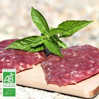 COLIS L'ESSENTIEL BURGER BIO par la Ferme Bichet, viande de boeuf charolais bio à la ferme traditionnelle, domaine et prairies naturelles, livraison fraîcheur.