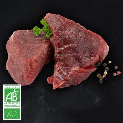Pavés de boeuf BIO par 2 par la Ferme Bichet, viande de boeuf charolais bio à la ferme traditionnelle, domaine et prairies naturelles, livraison fraîcheur.